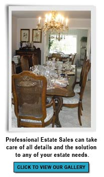 Professional Estate Sales will organize & display household contents by category.